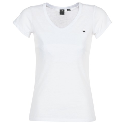 Textil Mulher T-Shirt mangas curtas G-Star Raw EYBEN SLIM V T WMN S/S Branco