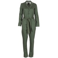 Textil Mulher Macacões/ Jardineiras G-Star Raw DELINE JUMPSUIT WMN L/S Cáqui