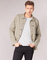 Textil Homem Jaquetas G-Star Raw RACKAM OVERSHIRT Bege
