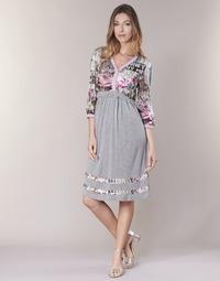 Textil Mulher Vestidos curtos Cream ZAIROCE Cinza