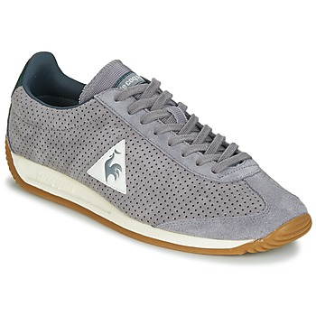 Sapatos Homem Sapatilhas Le Coq Sportif QUARTZ PERFORATED NUBUCK Cinza