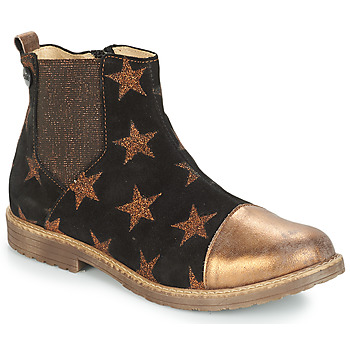 Sapatos Rapariga Botas GBB LEONTINA Preto - cobre