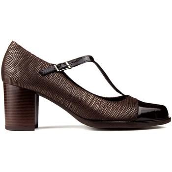 Sapatos Mulher Escarpim Kroc SAPATOS DE DE COURO DE marrom