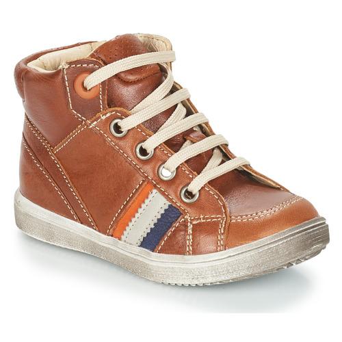 Sapatos Rapaz Sapatilhas de cano-alto GBB ANGELITO Castanho