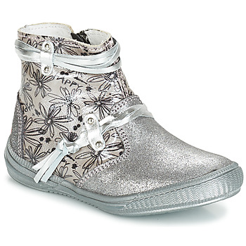 Sapatos Rapariga Botas GBB REVA Cinza / Prata - estampado