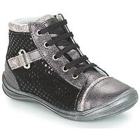 Sapatos Rapariga Sapatilhas de cano-alto GBB ROMIE Preto / Cinza