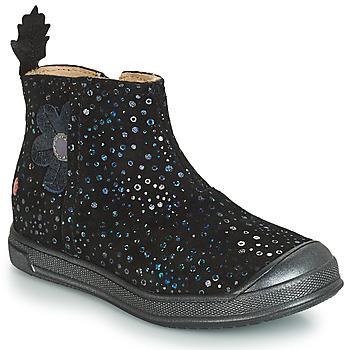 Sapatos Rapariga Botas baixas GBB ROMANE Preto