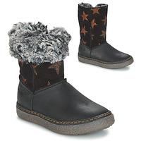 Sapatos Rapariga Botas GBB DUBROVNIK Preto / Cinza