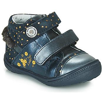 Sapatos Botas baixas Catimini ROSSIGNOL Marinho - pintas / Dourado