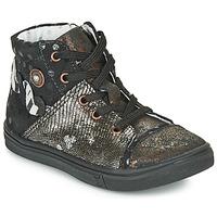 Sapatos Rapariga Sapatilhas de cano-alto Catimini ROUSSEROLLE Preto / Ouro