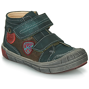 Sapatos Rapaz Sapatilhas de cano-alto Catimini ROMARIN Azul / Castanho