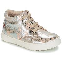 Sapatos Rapariga Sapatilhas de cano-alto GBB SACHA Bege / Prateado