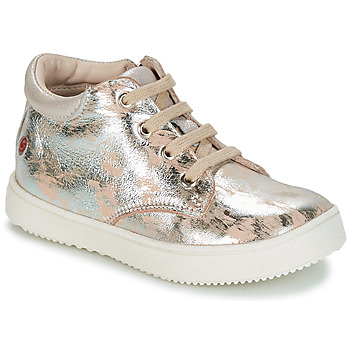 Sapatos Rapariga Sapatilhas GBB SACHA Bege / Prateado