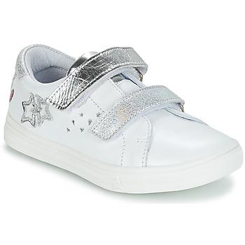 Sapatos Rapariga Sapatilhas GBB SANDRA Branco / Prata