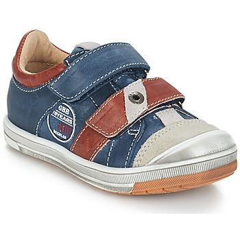 Sapatos Rapaz Botas baixas GBB SERGE Azul / Cinza / Vermelho