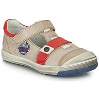 Sapatos Rapaz Botas baixas GBB SCOTT Bege-vermelho / Flash