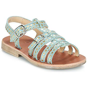 Sapatos Rapariga Sandálias GBB BANGKOK Verde / Ouro