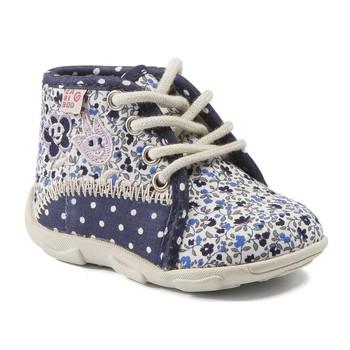 Sapatos Rapariga Chinelos GBB PAT Marinho - florido
