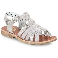 Sapatos Rapariga Sandálias Catimini SAULE Prateado / Rosa