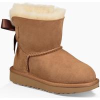 Sapatos Mulher Botas de neve UGG Mini Bailey Bow II Chestnut KIDS Castanho