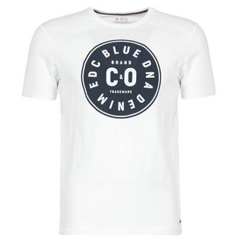 Textil Homem T-Shirt mangas curtas Esprit GRAHAM Branco