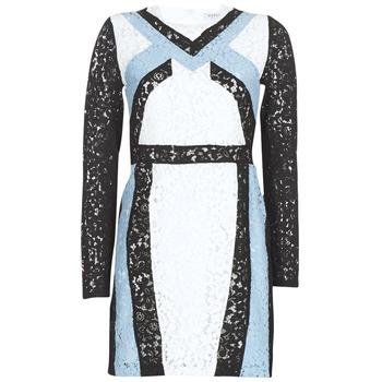 Textil Mulher Vestidos curtos Morgan RLIXI Branco / Preto / Azul