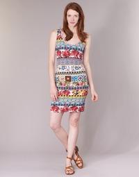 Textil Mulher Vestidos curtos Desigual OCONDE Multicolor
