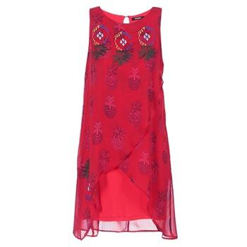 Textil Mulher Vestidos curtos Desigual DORIJE Vermelho