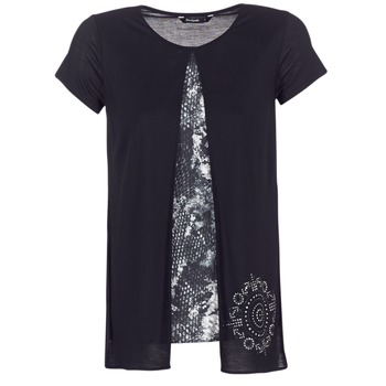 Textil Mulher T-Shirt mangas curtas Desigual NUTILAD Preto