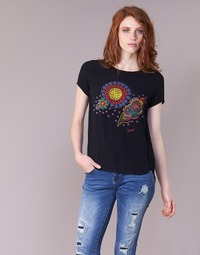 Textil Mulher T-Shirt mangas curtas Desigual NAIKLE Preto