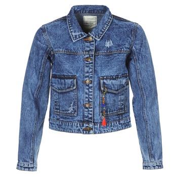 Textil Mulher casacos de ganga Kaporal BUCHE Azul