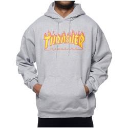 Textil Homem Sweats Thrasher SUDADERA  FLAME LOGO cinza