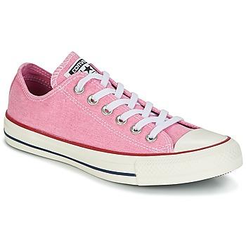 Sapatos Mulher Sapatilhas Converse Chuck Taylor All Star Ox Stone Wash Rosa