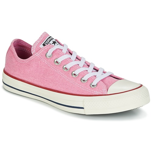 Sapatos Mulher Sapatilhas Converse Chuck Taylor All Star Ox Stone Wash Rosa