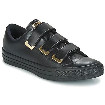 Sapatos Mulher Sapatilhas Converse Chuck Taylor All Star 3V Ox SL + Hardware Preto / Dourado