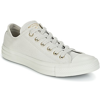 Sapatos Mulher Sapatilhas Converse Chuck Taylor All Star Ox Mono Glam Canvas Color Cinza