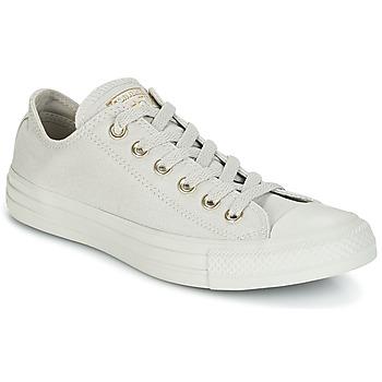 Sapatos Mulher Sapatilhas Converse Chuck Taylor All Star Ox Mono Glam Canvas Color Cinza
