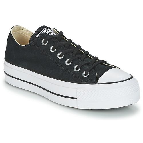 Sapatos Mulher Sapatilhas Converse Chuck Taylor All Star Lift Clean Ox Core Canvas Preto