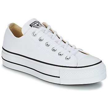 Sapatos Mulher Sapatilhas Converse Chuck Taylor All Star Lift Clean Ox Core Canvas Branco
