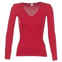 Textil Mulher T-shirt mangas compridas Petit Bateau  Vermelho