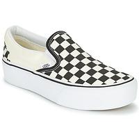 Sapatos Mulher Slip on Vans SLIP-ON PLATFORM Preto / Branco