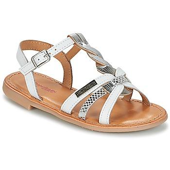 Sapatos Rapariga Sandálias Les Tropéziennes par M Belarbi BADAMI Branco / Prata