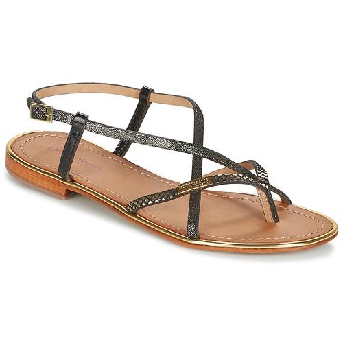 Sapatos Mulher Sandálias Les Tropéziennes par M Belarbi MONACO Preto / Ouro