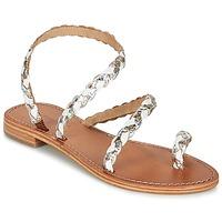 Sapatos Mulher Sandálias Les Tropéziennes par M Belarbi BALI Branco / Ouro