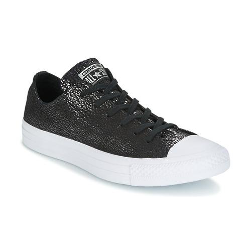 Sapatos Mulher Sapatilhas Converse Chuck Taylor All Star Ox Tipped Metallic Preto
