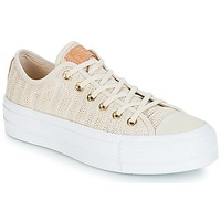 Sapatos Mulher Sapatilhas Converse Chuck Taylor All Star Lift-Ox Bege / Branco