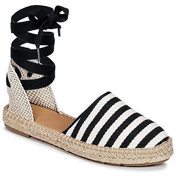 Sapatos Mulher Alpargatas Betty London INANO Preto / Branco