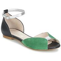 Sapatos Mulher Sandálias Betty London INALI Preto / Prateado / Verde