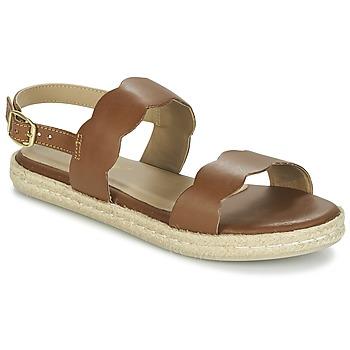 Sapatos Mulher Sandálias Betty London IKARO Castanho