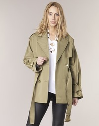 Textil Mulher Trench MICHAEL Michael Kors SHRT WIDE TRENCH Cáqui